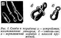 Рис. 1. Скобы и карабины