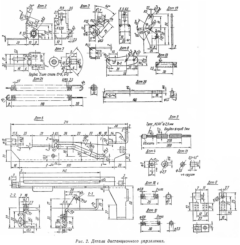 Рис. 2. Детали дистанционного управления