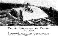 Рис. 3. Экраноплан И. Троенга Аэробот