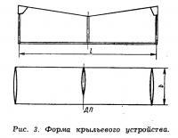 Рис. 3. Форма крыльевого устройства