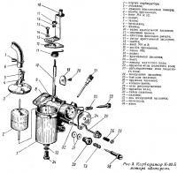 Рис. 3. Карбюратор К-33 Б мотора «Ветерок»