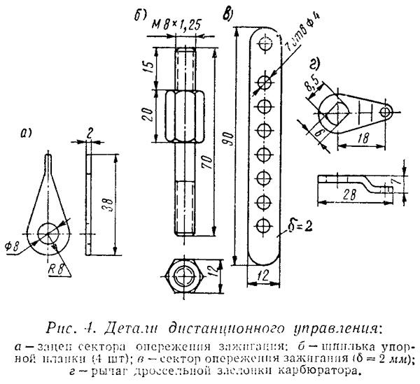 Рис. 4. Детали дистанционного управления