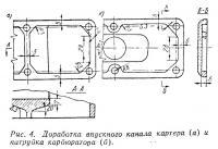 Рис. 4. Доработка впускного канала картера