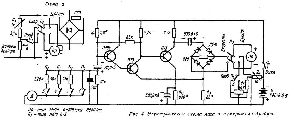 Электрическая схема лага и