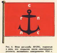 Рис. 4. Флаг яхт-клуба ЛГСПС