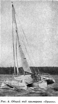 Рис. 4. Общий вид тримарана «Триюн»