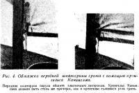 Рис. 4. Обтяжка передней шкаторины грота