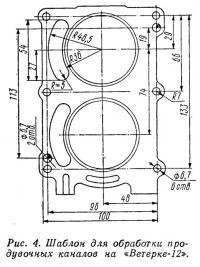 Рис. 4. Шаблон для обработки продувочных каналов на «Ветерке-12»