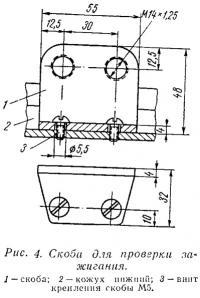 Рис. 4. Скоба для проверки зажигания