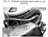 Рис. 5. Подвод охлаждающей воды к глушителю