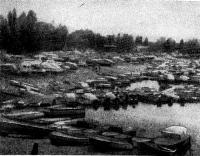 Рис. 5. Стоянка на Выдубецком озере в настоящем