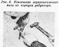 Рис. 6. Извлечение горизонтального вала из корпуса редуктора