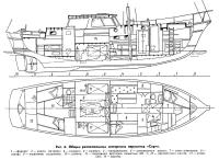 Рис. 6. Общее расположение моторного парусника «Серч»
