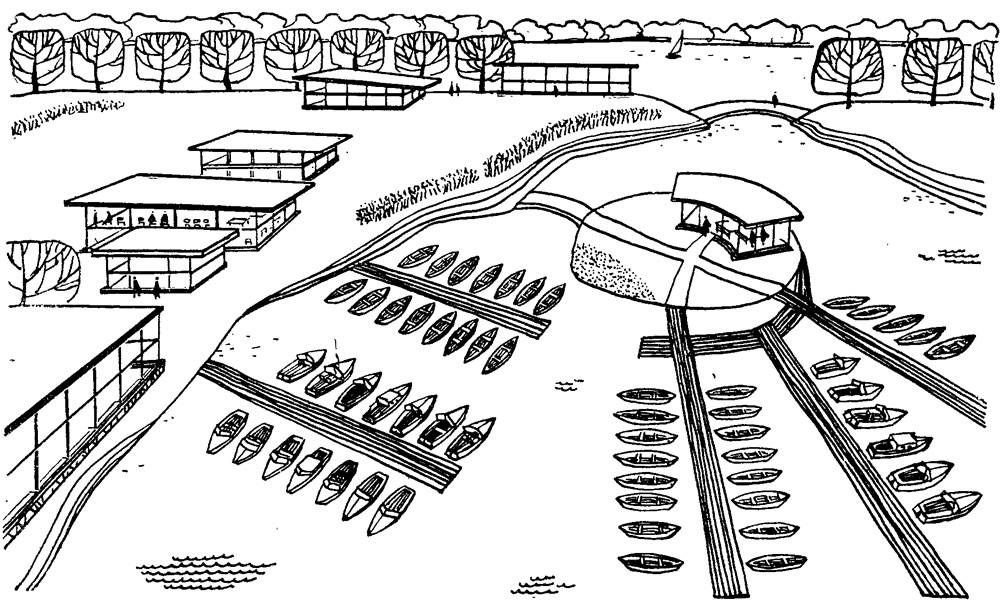 Рис. 6. Проект переоборудования стоянки на Выдубецком озере