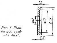 Рис. 6. Шайба под гребной винт