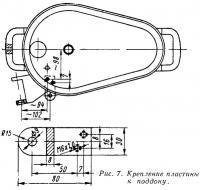 Рис. 7. Крепление пластины к поддону