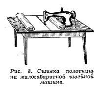 Рис. 8. Сшивка полотнищ на малогабаритной швейной машине