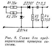 Рис. 9. Схема для предварительной проверки системы