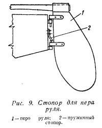 Рис. 9. Стопор для пера руля