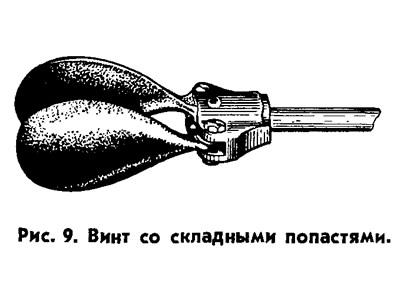 Рис. 9. Винт со складными лопастями