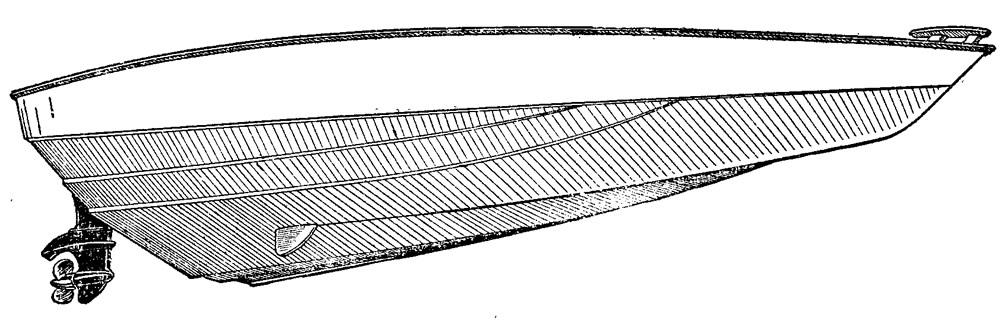 Рисунок днища мотолодки