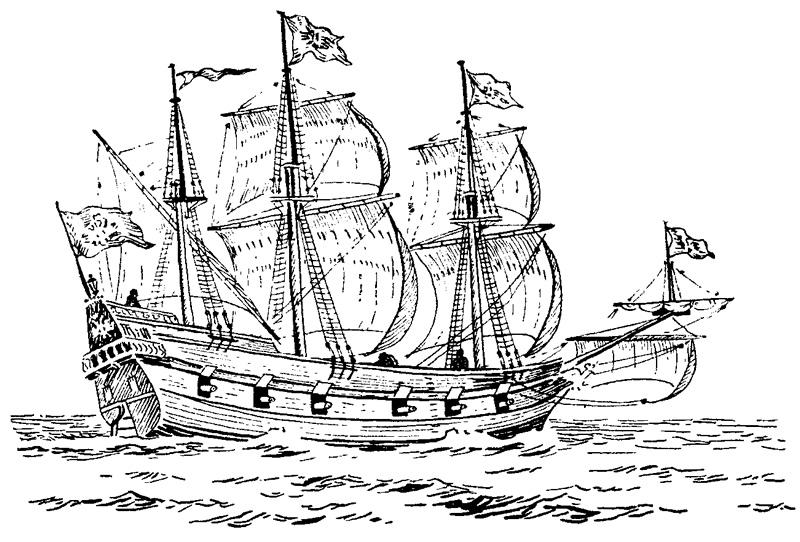 Рисунок корабля «Орел»