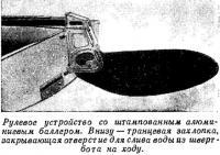 Рулевое устройство со штампованным алюминиевым баллером