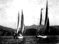 «Русь» и «Гренада» во время совместного выхода в бухту Врангеля