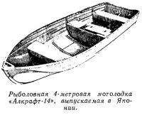 Рыболовная 4-метровая мотолодка «Алкрафт-14»