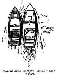 Счалка двух катеров лагом — борт о борт
