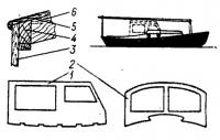 Съемная кабина на лодке