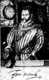 Сэр Френсис Дрейк. Портрет 1584 года
