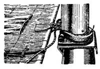 Шарнирное крепление мачты на балке