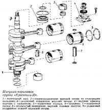 Шатунно-поршневая группа «Кресчента-35»