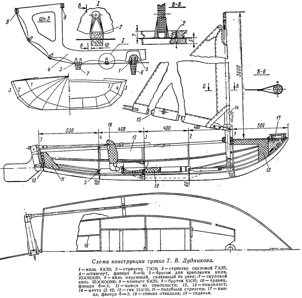 Схема конструкции тузика Т. В. Дудникова