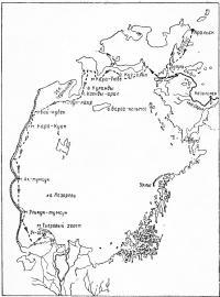 Схема маршрута нашего плавания по Аральскому морю