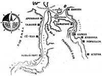 Схема маршрута по заполярью