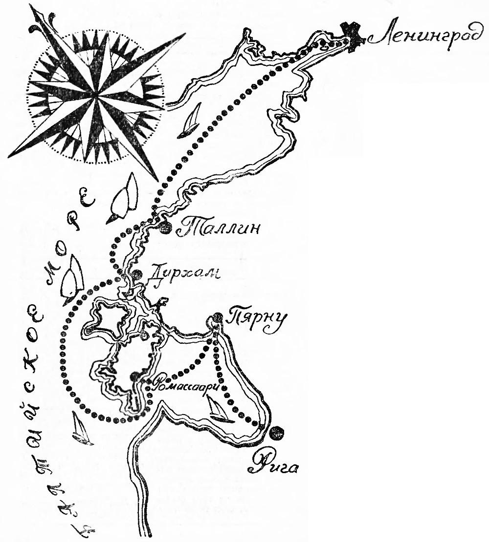 Схема маршрута соревнования