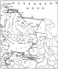 Схема маршрута яхты «Юность»