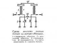 Схема монтажа кнопки «Стоп» на моторе «Москва»