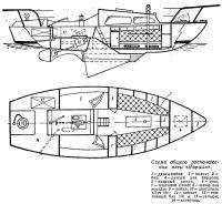 Схема общего расположения яхты «Норман»