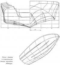Схема обводов и теоретичрский корпус мотолодки «Нептун»