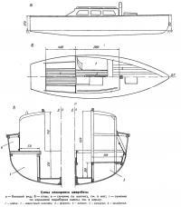 Схема планировки швертбота
