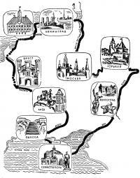 Схема плавания по городам-героям