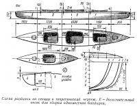 Схема разбивки на секции и теоретический чертеж