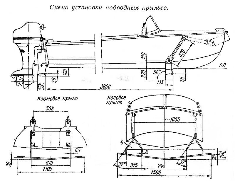 Гидрокрыло для подвесных лодочных моторов своими руками 48