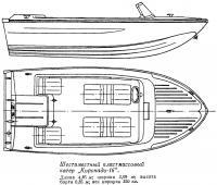 Шестиместный пластмассовый катер Коронадо-16