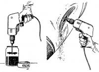Шкуровальная машинка из электродрели