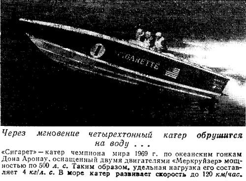 «Сигарет» — катер чемпиона мира 1969 г