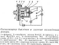 Сигнализатор давления в системе охлаждения мотора